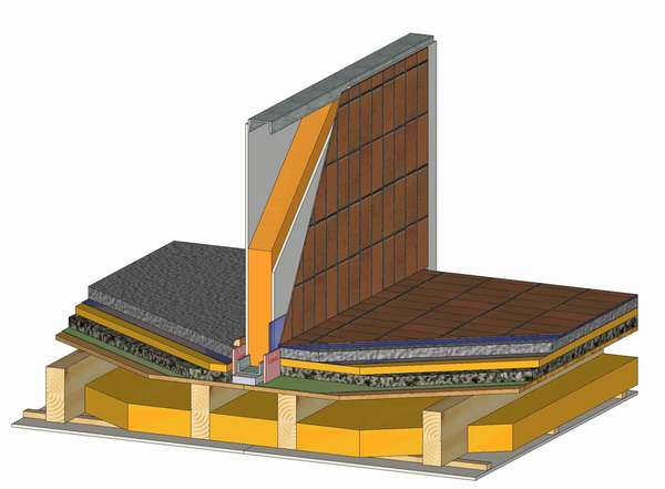 Układ warstw ściany wewnętrznej (Rys. 3)