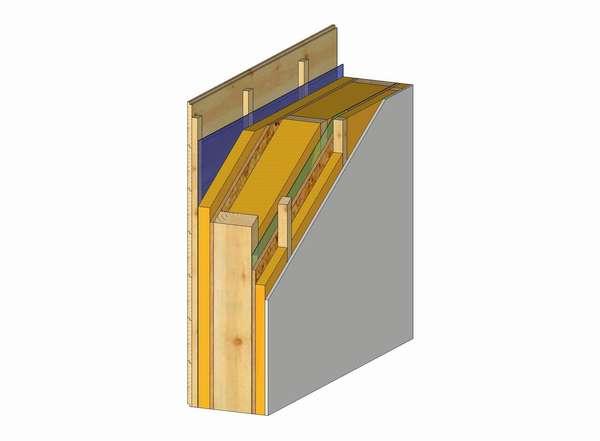 Układ warstw ściany zewnętrznej (Rys. 2)