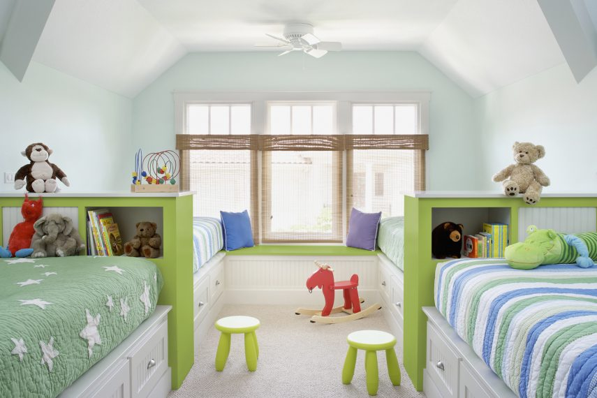 Children's Room with Storage beneath Beds